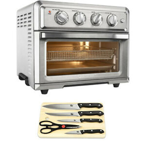 Cuisinart Convection Toaster Oven Air Fryer with 5 - Piece Knife Set and Cutting