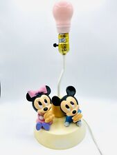 Vintage Minnie And Mickey Mouse Lamp With Night Light- Works