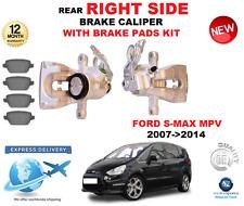 FOR FORD S MAX MPV 2007-2014 REAR AXLE RIGHT BRAKE CALIPER WITH BRAKE PADS SET