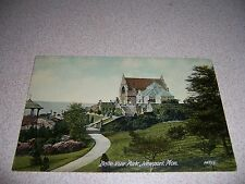 1908 Belle Vue Park Newport Monmouthshire Uk. Antique Postcard
