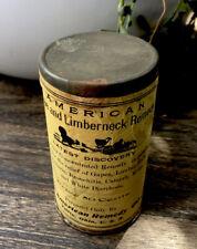 Vintage American remedy chicken fowl medicine veterinarian unused can 1920's