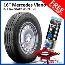 "16"" Mercedes VIANO  2003 - 2016 Full Size Spare Steel Wheel & Tyre + TOOL KIT"