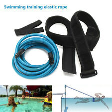 Adult Kids 4m Swimming Bungee Exerciser Leash Cord Training Rope Hip Swim Belts