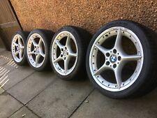 "BMW Z4 18"" 108 OEM Star Wheels 6758194 6758195 BBS Split Rim - Rare Wheels"