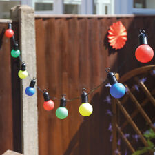 10 LED Festoon Outdoor Garden Battery String Fairy Xmas Decoration Lights 4.5m Multi Colour