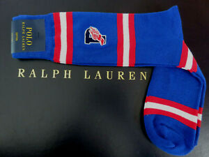 Polo RALPH LAUREN Socks Men's Embroidered P Wing Stripe CP93 Stadium Size 10-13