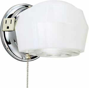 Westinghouse 66402 Light Indoor Wall Fixture Outlet & Pull Chain bathroom wall