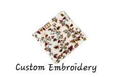 Personalized Embroidered Velvet Plush Owl & Leaves Blanket Ultra Soft 50 x 60