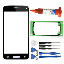 For Samsung Galaxy S5 Mini Front Touch Screen Glass Outer Lens Cover + UV Glue