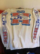 JT Racing USA Rare ORANGE BLUE Vintage DAVID BAILEY Jersey Honda Large USA