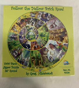 Sealed Follow The Yellow Brick Road Jigsaw Puzzle Greg Tim Hildebrandt 1000 Pcs