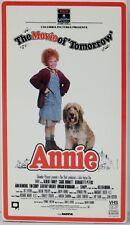 ANNIE 1982 The Movie of Tomorrow Hi Fi Stereo NTSC VHS Tape