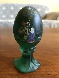 Fenton Limited Edition Hand Painted Art Glass Egg Signed N Libbe #253/2500
