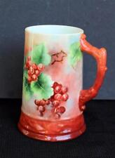 "Antique BELLEEK WILLETS Porcelain Hand Painted RED WHITE CURRENTS 5 3/4"" Mug"