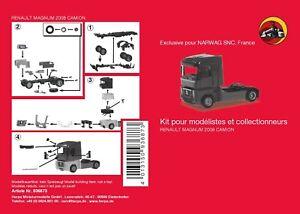 Renault Magnum 08 Tracteur solo (kit à monter) - Herpa - Echelle 1/87 (Ho)