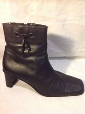 The Shoe Tailor Black Ankle Leather Boots Size 41