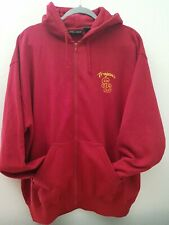 USC team Trojans zip Hoodie Size L SC Authentic Apparel Crimson Red embroidered