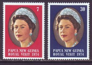 Papua New Guinea 1974 SC 397-398 MNH Set Royal Visit