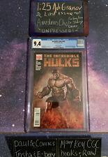 Incredible Hulks #635 1:25 Granov Amadeus Cho Hulk Rare 9.4 CGC Marvel Comic