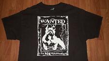 Wanted Poster PIT BULL Dog Adoption T-Shirt XL mens womens American Bully Supply