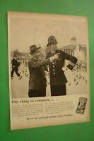 1954 Original Advertising' Blue Gillette Blades Foil Shavers London Rescue