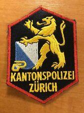 SWISS SWITZERLAND POLICE PATCH - ZURICH CANTON - ORIGINAL!