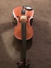 More details for antique violin  19th century one piece back with genuine horse hair bow
