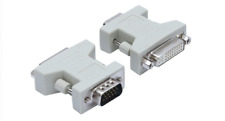 New DVI-D Female (24+1) to VGA Male (15-pin) Connector Adapter White for PC