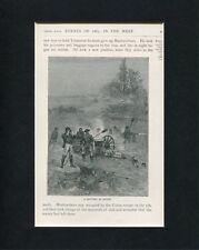 Battery In Action American Civil War Original Book Photo Display