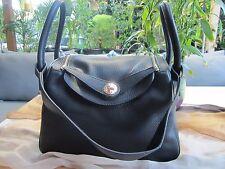 NEW - Ladies Cow Leather Handbag / Shoulder Bag - Black