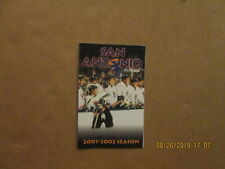 Chl San Antonio Iguanas Vintage Circa 2001-2002 Team Logo Hockey Pocket Schedule