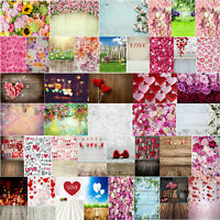 Valentines Day Love Flowers Digital Photography Background Cloth Backdrops Props