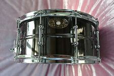 SWEET! 1909-2009 LUDWIG USA 100th ANNIVERSARY BLACK BEAUTY SNARE DRUM! LOT #J555