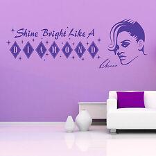 Rihanna brilla como un diamante de vinilo el arte de pared calcomanía