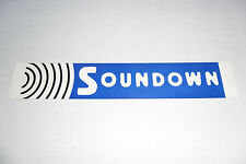 Soundown Sticker (Advertising for Noise & Vibration Control Engineering Company)
