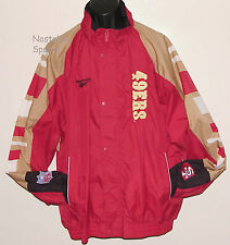Vintage 90's SF 49ers REEBOK Windbreaker JACKET NFL ProLine SEWN LTRS NWT 2XL