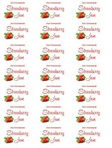 JAM LABELS - PRESERVE LABELS - PERSONALISED FOR YOU - FREE POSTAGE!