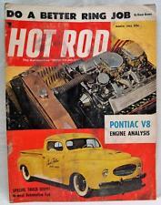 HOT ROD MAGAZINE MARCH 1955 PONTIAC V8 ENGINE ANALYSIS VINTAGE CARS AUTOMOBILES