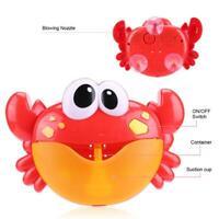 Rot Krabbe Groß Musik Tragbare Kinder Seifenblasenmaschine Bubble Machine Maker