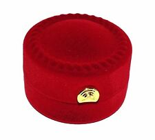 Red Circular Luxury High Quality Velvet Ring Necklace Box