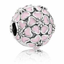 Charms y pulseras de charms de joyería rosas