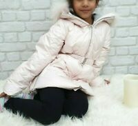 NEW AUTHENTIC ELSY RRP £279 AGE 5 YEARS GIRLS PINK FUR DOWN JACKET COAT JK14