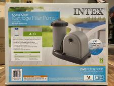 NEW Intex 1500 GPH Krystal Clear Cartridge Filter Pump Above Ground Pool 28635EG