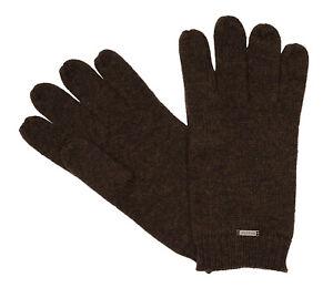 bugatti Herrenhandschuhe Handschuhe Merino Wolle Braun 8626