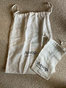 Aēsop 2 Drawstring Cotton Dust Bags Protective Pouch