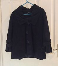 Womens Black Peacoat Jacket by Kangol. Size 12. VGC. Ideal for Autumn.