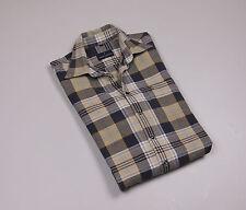DANIEL HECHTER PARIS Men's Beige checked long Sleeved Casual Shirt Size Medium