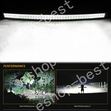 50INCH 500W CURVED LED Work Light Bar Spot Flood + Harness Kit for JEEP Offroad