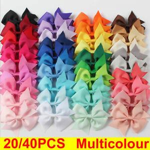 20/40PCS Kids Baby Girls Bow Hair Clip Children Toddler Flowers Hair Accessories