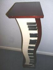 CD Storage Black & White Piano Keys Style Brown Wood Furniture Cabinet